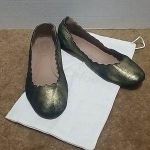 Chloe Lauren scalloped Ballet flats